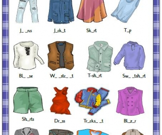 Clothes Missing Letters Activity II