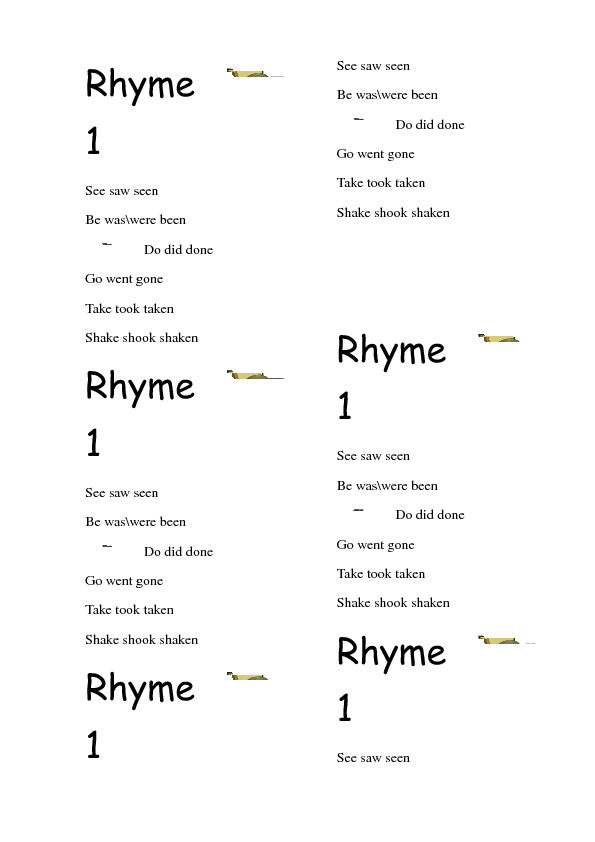Irregular Rhymes