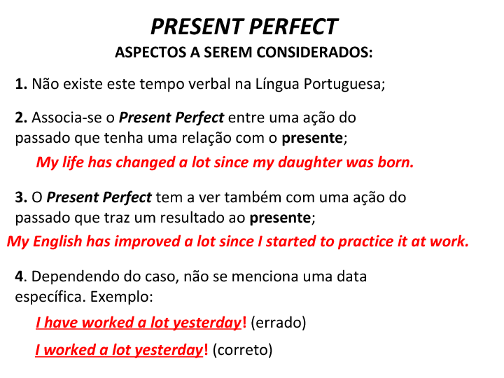 Present Perfect Well Explained For Portuguese Speakers