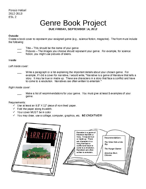 Genre Book Cover Project
