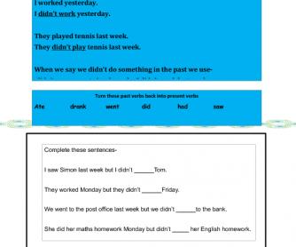 The Past Simple (Negative Sentences)