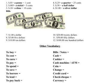 British and American Currency