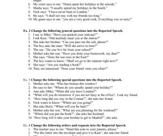 Reported Speech (Present)