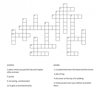 Crossword Puzzle: The Farm
