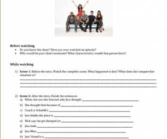 Video Worksheet: New Girl Pilot Episode