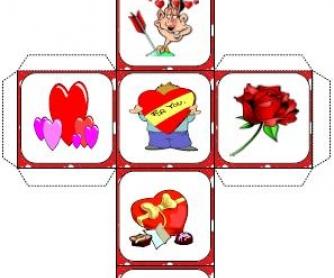 Saint Valentine's Day Dice