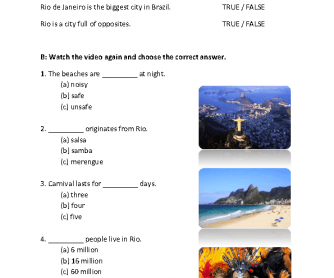 Brazil Video Worksheet (Carnival)