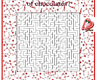 valentine day mazes coloring pages - photo#42