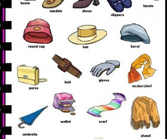 Footwear and Accessories Picture Dictionary
