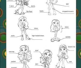 Clothes & Accessories Worksheet