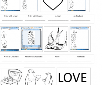 Valentine's Day Colouring and Vocabulary