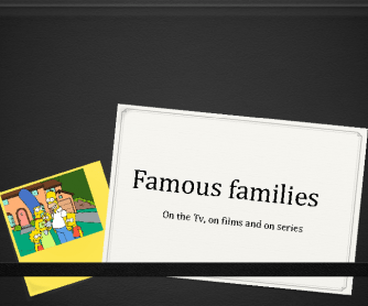 Famous Families on Tv Shows