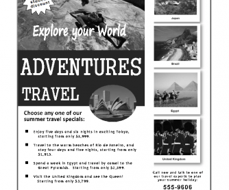 Travel Ad: Information-Gap Activity
