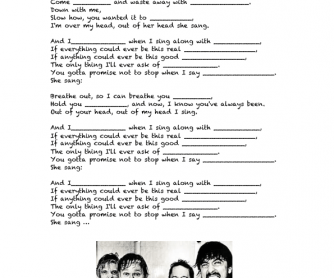 Song Worksheet: Everlong by Foo Fighters