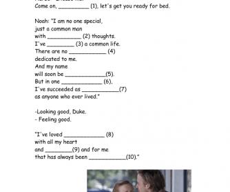 Movie Worksheet: The Notebook