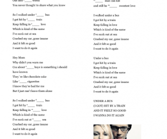 Song Gap-Fill Worksheet: Buses and Trains by Bachelor Girl