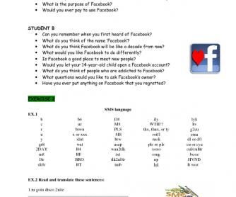 Facebook & SMS Language