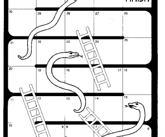 Present Simple Snakes and Ladders Game