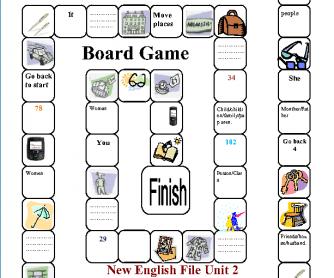 Singular-Plural Board Game