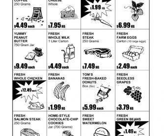 Supermarket Ad: Information-Gap Activity