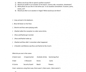 Movie Worksheet: Ross and Rachel in Vegas [Friends]