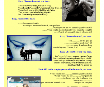 Song Worksheet: Beneath Your Beautiful (feat. Emeli Sande) by Labrinth
