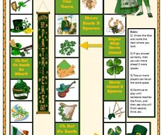 Saint Patrick's Day Boardgame