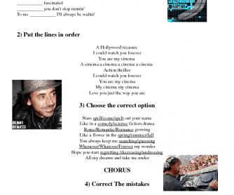 Song Worksheet: Cinema by Benny Benassi
