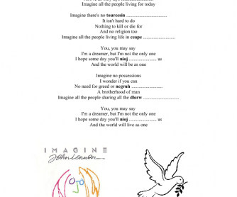 Song Worksheet: Imagine by John Lennon