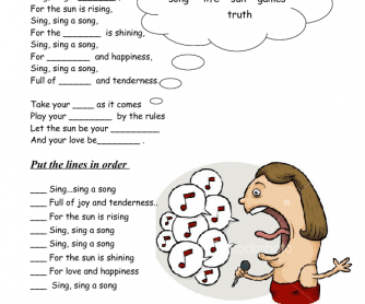 Song Worksheet Sing, Sing a Song