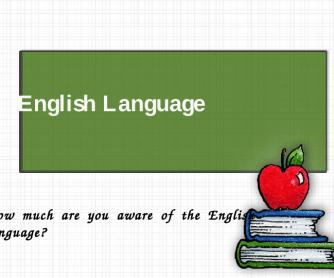 English Language Quiz