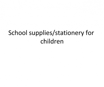 School Supplies Presentation