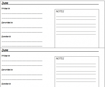 Diary Entry Template - Going To