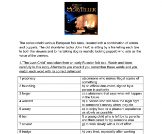 Movie Worksheet: The Luck Child