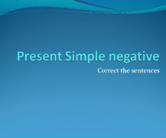 Present Simple Negative Quiz