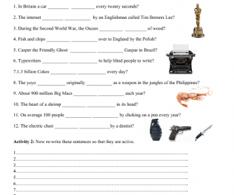 Passive Voice Worksheet - Did You Know?