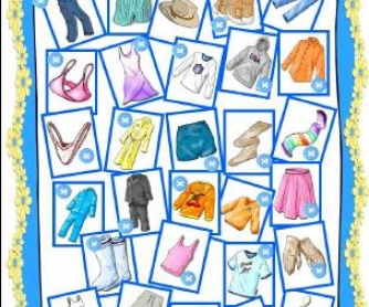 Clothes Missing Letters Worksheet