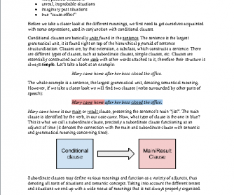 Conditional Clauses: A Complete Review for Teachers and Advanced Learners