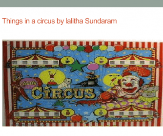 Things in a Circus