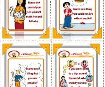 All About Me: Conversation Cards