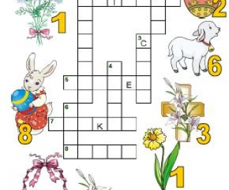 Easter Picture Crossword