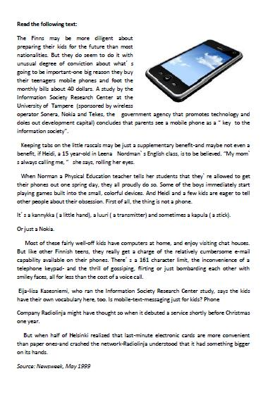 Worksheet Matching Cell Phone Texting : Free telephones worksheets