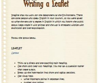 Environmental and Wildlife Management how to write order