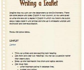 Writing a Leaflet