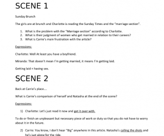 Movie Worksheet: Sex in the City, Season 3 Episode 3 - Vocabulary and Conversation Practice