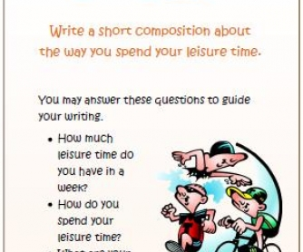 Leisure Time Writing Activity