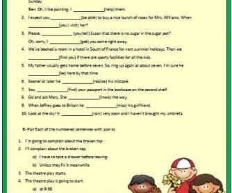 Will vs GoingTo Worksheet