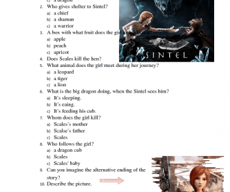Movie Worksheet: Sintel