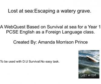 Survival Webquest for 6th Form Esl Students