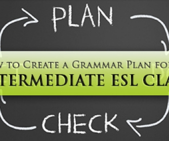 How to Create a Grammar Plan for an Intermediate ESL Class